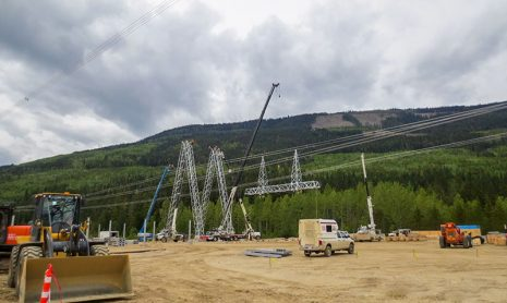 Ruby Creek ligne de transmission 500KV